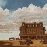 Barron Postmus, The Gathering, oil, 24 x 48.