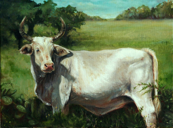 Barry Carter, Pretty in Pedernales, oil, 18 x 24.