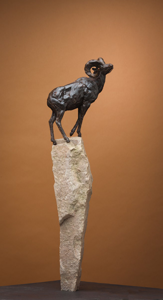 Bart Walter, Big Horn Rock, bronze sculpture at Western Visions.