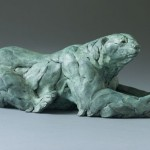 Waiting for Ice, bronze, 7 x 17 x 6.
