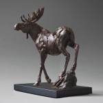 Yellowstone Moose, bronze, 9 x 5 x 10.