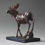 Yellowstone Moose, bronze, 9 x 5 x 10.