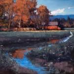 Romona Youngquist, Battleground Barn, oil, 30 x 36.