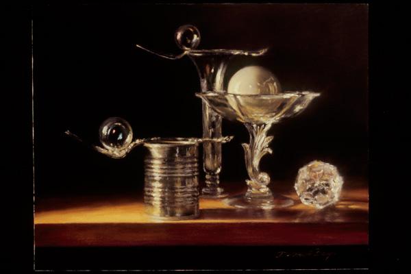 Deborah Bays, Still Life with Orb, pastel, 12 x 15.