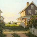 Carol Jenkins, Beach Roses, oil, 18 x 24.