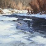 Bear Creek Blue, oil, 18 x 24.