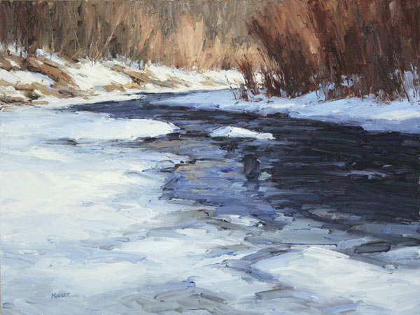 Bear Creek Blue, oil, 18 x 24.
