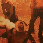 Duke Beardsley, A Good Ground Crew, oil western painting