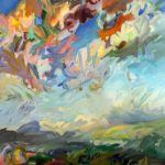 Jeffrey Beauchamp, Whatever Keeps You in the Air Because Away From the Couch It's All Hot Lava, oil, 72 x 60.
