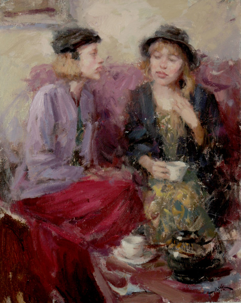 Dan Beck, Sisters, oil, 20 x 16.