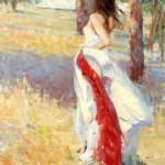 Dan Beck, Windswept, oil, 36 x 24.
