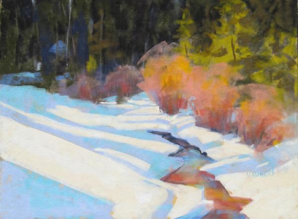 Virginia Unseld, Bedazzled, pastel, 12 x 16.
