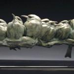 Pete Zaluzec | Bee-eaters, bronze, 24 x 7 x 8.