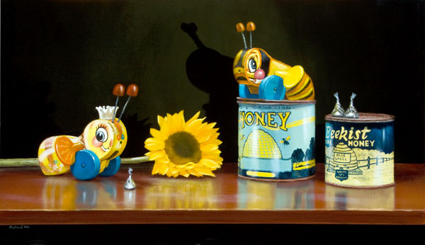 Bee My Honey, oil, 12 x 24.
