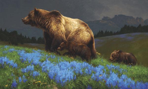 Greg Beecham, Summertime Blue, oil, 18 x 30.