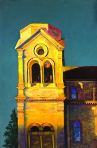 Paul Murray, Bell Tower, pastel, 23 x 15.