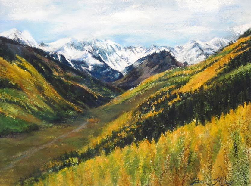 Benjamin Kelley, Aspen Gold, pastel, 18 x 24.