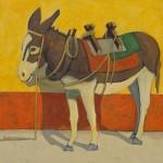 Robert Burt, Benny, acrylic, 34 x 34.