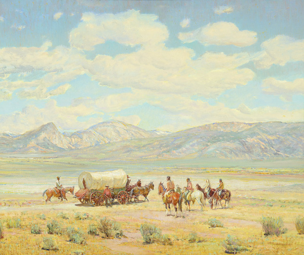Oscar Berninghaus, Homesteader on Indian Land, oil, 25 x 30. Estimate: $150,000-$250,000.