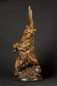 Tim Shinabarger, Big Itch, bronze, 36 x 16 x 15.