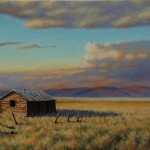 Bill Scheidt, Home on the Plains, oil, 16 x 20.