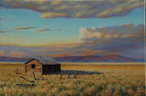 Bill Scheidt, Home on the Plains, oil, 16 x 20.