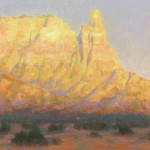 Tom Blazier, Sunset at Ghost Ranch, oil, 9 x 12.