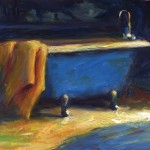 Pam Ingalls, Blue Bath, oil, 11 x 14.