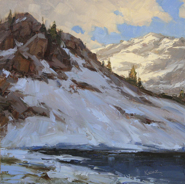 Blue Lake Study, oil, 11 x 11.