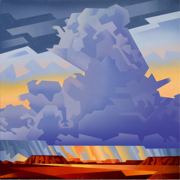 David Jonason, Blue Storm, oil, 24 x 24.