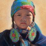 Ann Hanson, Blue Velvet, oil, 10 x 8.