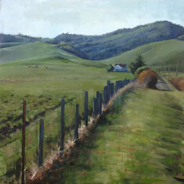 Jackson Lain, Bodega Landscape, oil, 40 x 40.