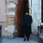 George Bodine, Italian Veteran, oil, 24 x 12.