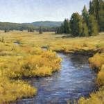 Keith Bond, Autumn Creek, oil, 30 x 40.