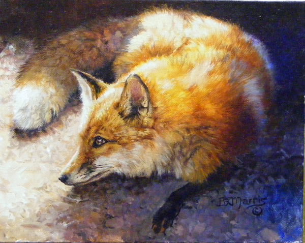 Bonnie Marris, Study for the Den Mother, oil, 8 x 10.