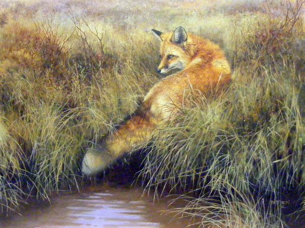 Bonnie Marris, The Red Rogue,oil, 30 x 40.