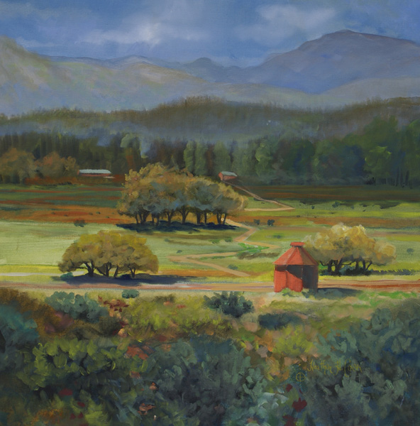 Heather Coen, Boulder Barn, oil painting