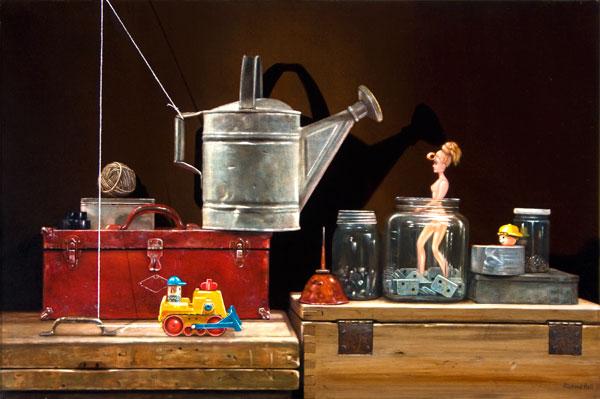 Boy's Toys, oil, 24 x 36.