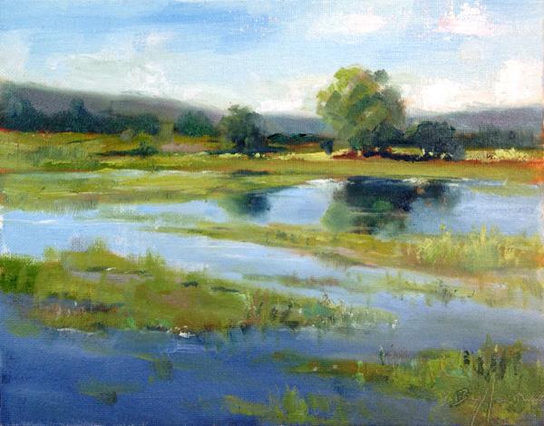 Brenda Boylan, Tualatin Marsh, oil, 8 x 10.