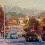 Brenda Boylan, Intersection on 1st, pastel, 16 x 16.