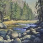 Brian Jillson, Yosemite Creek, oil, 24 x 30.