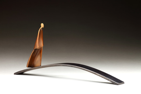Carol Gold, Bridge, bronze, 8 x 19 x 3.
