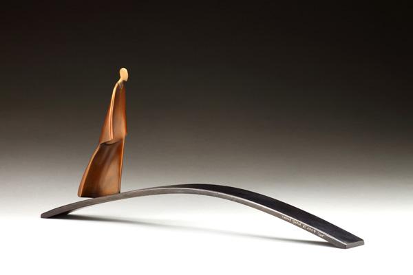 Carol Gold, Bridge, bronze, 8 x 19 x 3.