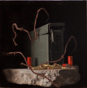 Brock Alius, Still Life, oil, 18 x 18.