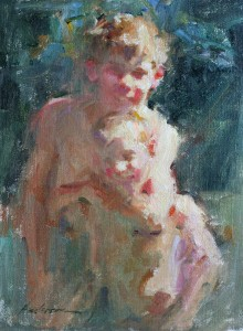 Carolyn Anderson   Brothers, oil, 12 x 9.
