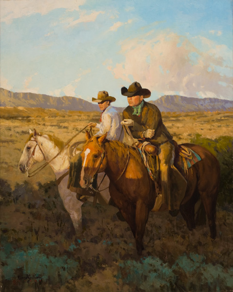 David Griffin, Brothers of the Land, oil, 30 x 24.