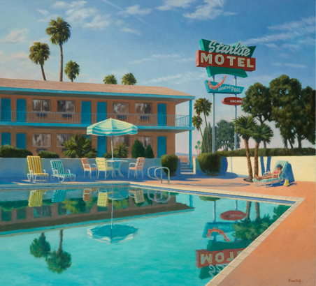 Bruce Cody, Starlite Reflections, oil, 36 x 40.