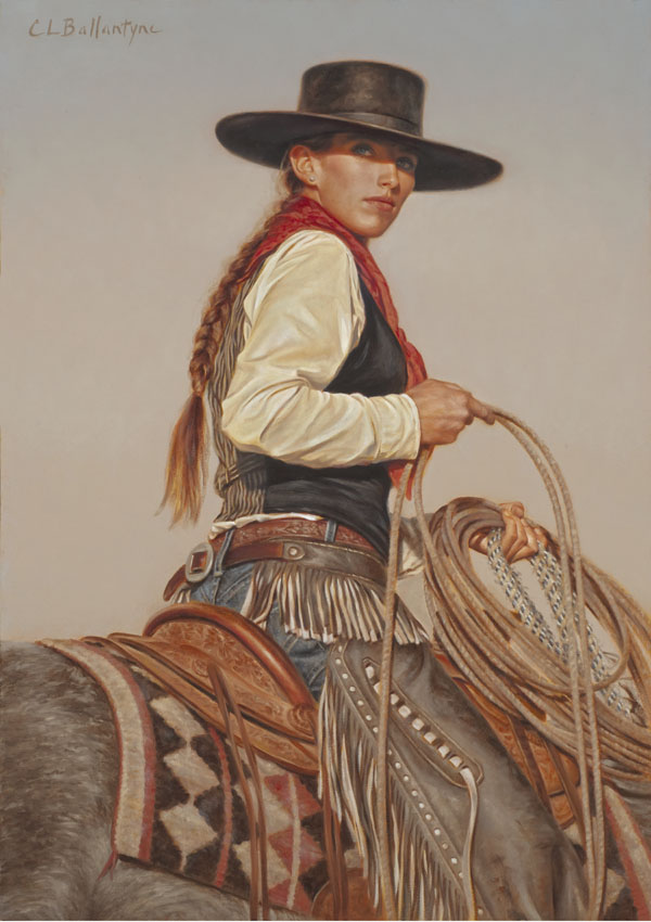 Carrie Ballantyne, Buckaroo Diamonds and Pearls, oil, 21 x 15.