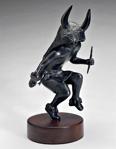 Michael Naranjo, Buffalo Shadow, bronze sculpture