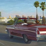Buick Convertible, San Diego Freeway, oil, 16 x 41.